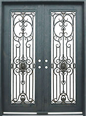 Napoli rectangular iron door