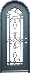Venice single radius iron door