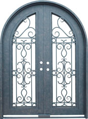 Venice radius iron door