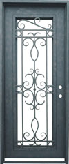 Venice single rectangle iron door