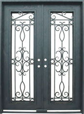 Venice rectangular iron door