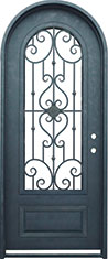Roma single radius iron door