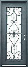 Roma single rectangle iron door