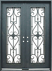Roma rectangle iron door