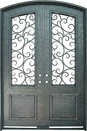 Seville 9'0 Segment iron door