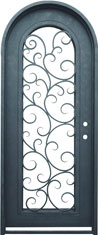 Seville single radius iron door