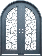 Seville radius iron door