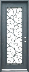 Seville single rectangle iron door