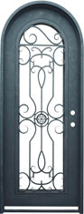 Barcelona single radius iron door