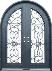 Barcelona radius iron door