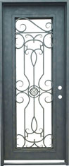 Barcelona single rectangle iron door