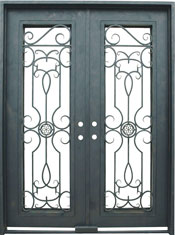 Barcelona rectangular iron door