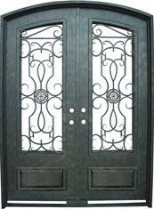 Barcelona 3qtr segment iron door