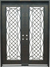 Genoa rectangular iron door