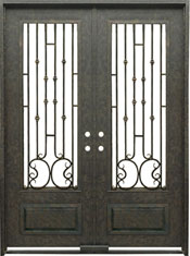 Capri 3qtr rectangle with transom iron door