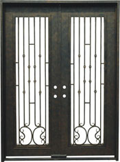 Capri rectangular iron door