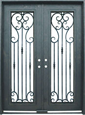 Greystone rectangular iron door