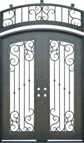 Special Segment Iron Door with Transom