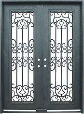 Dellatorri rectangular iron door