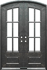 Monticello 3qtr segment iron door