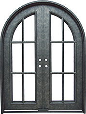 Monticello radius iron door
