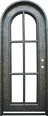 Monticello single radius iron door
