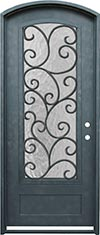 Custom iron door
