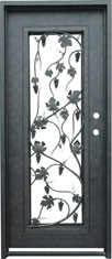 Wine rectangular iron door