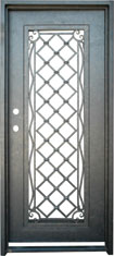 Standard wine iron door with pattern