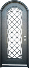 Radius wine iron door with pattern